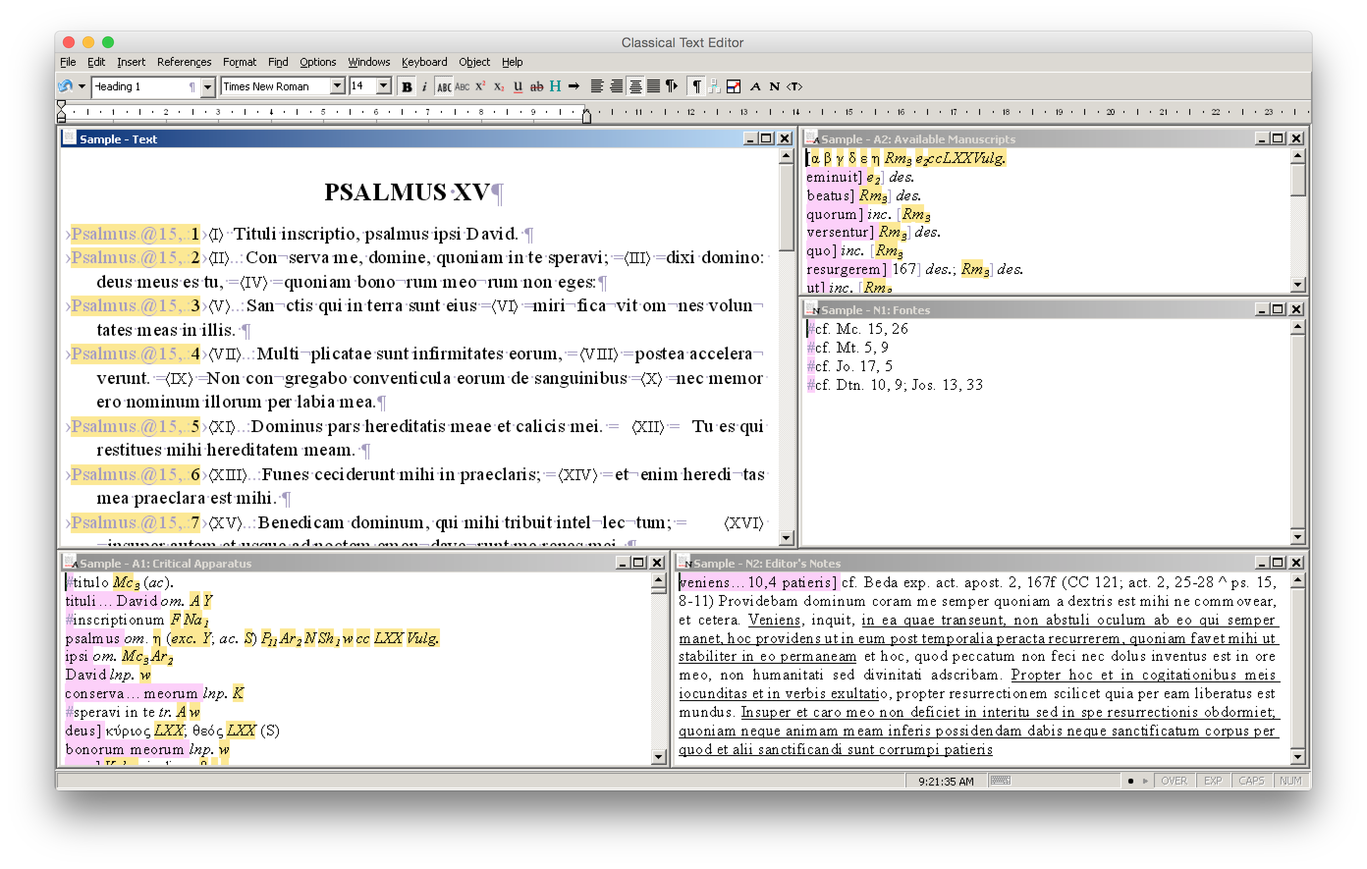 Classical Text Editor running under Wine